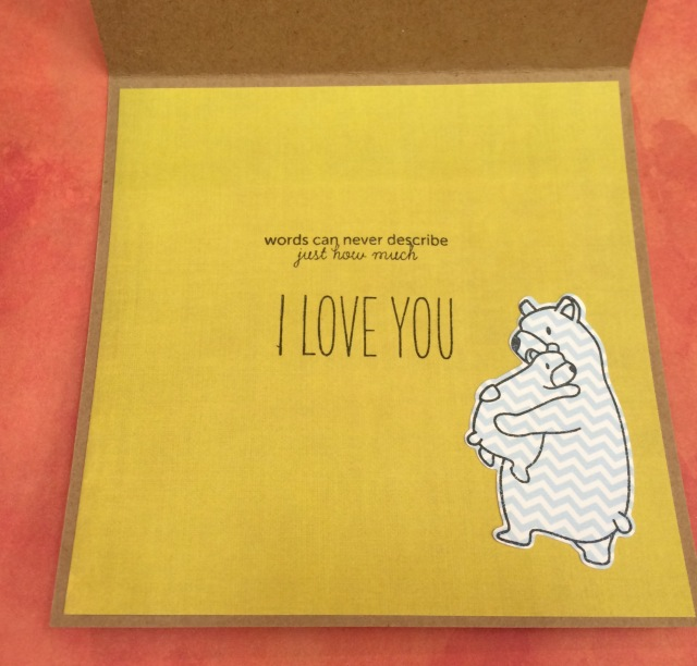 Bear Card Inside