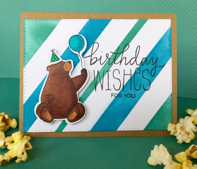 Bear Birthday Wishes Line Challenge